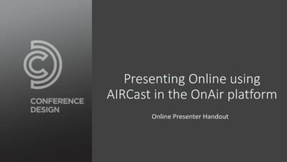 Presenter Guide for AIRCast - OnAiR