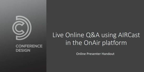 Live Q&A Guide